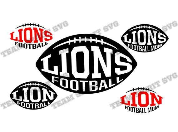 Lions Football Svg Lions Football Mom By Football Svg Files On Zibbet