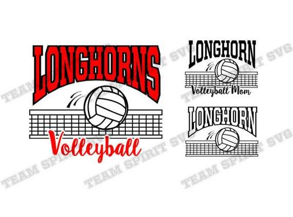 Longhorn Volleyball Svg Volleyball Net By Football Svg Files On Zibbet