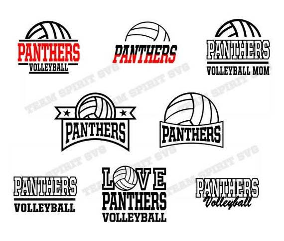 Panthers Volleyball Bundle Save Big By Football Svg Files On Zibbet