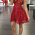 WDG0185,A-Line Spaghetti Straps Lace-Up White Lace Short Homecoming Dress