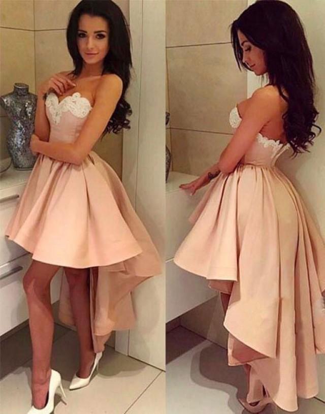 WDG0190,Homecoming Dresses,short Homecoming Dress,2021 Homecoming Dress,high-low