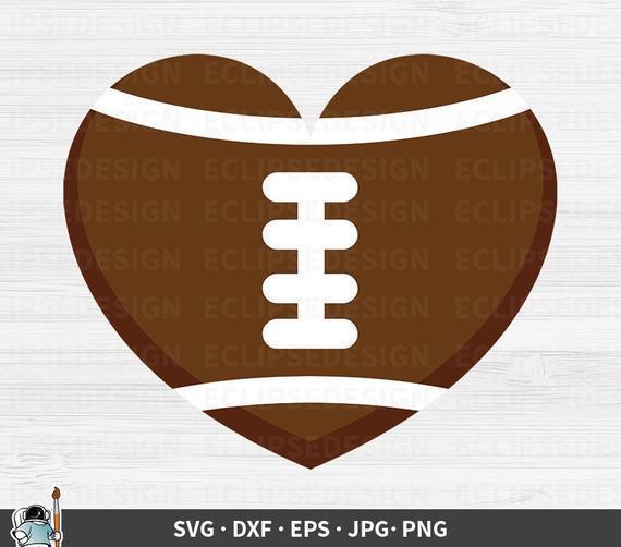 Football Heart Svg Football Silhouette By Kathytylerdesign On Zibbet