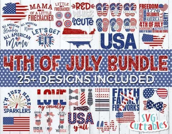 Fourth Of July Bundle Svg Patriotic Cut File By Walkergoody On Zibbet