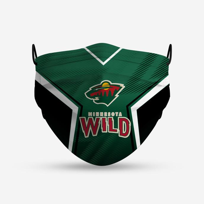 Minnesota Wild Style 4 Face Mask, Adult Face Mask, Sport Face Mask, Reusable