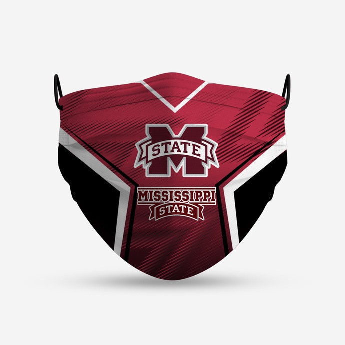 Mississippi State Bulldogs Style 4 Face Mask, Adult Face Mask, Sport Face Mask,