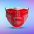 Nebraska Huskers Style 5 Face Mask, Adult Face Mask, Sport Face Mask, Reusable