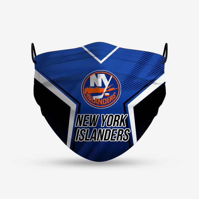New York Islanders Style 4 Face Mask, Adult Face Mask, Sport Face Mask, Reusable