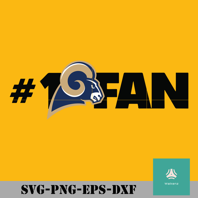 Los Angeles Rams #1 fan svg, Los Angeles Rams svg, Rams svg, Rams svg for cut,