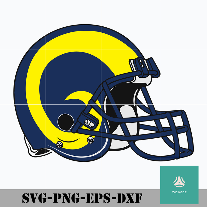 Los Angeles Rams Helmet Logo Svg Los Angeles By Zonestore On Zibbet