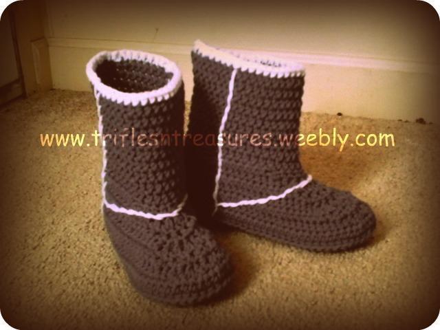 Ladies Uggs Boots Crochet Pattern Z Triflesntreasures