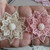 3 x Beautiful Organza Chic Double Layered Flowers - Please choose colour