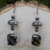 Handmade Glass and Silver Earrings