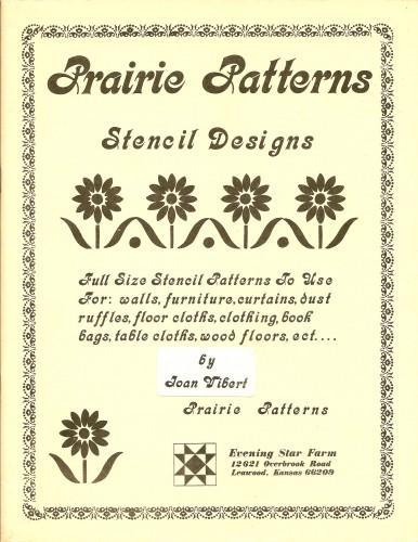 Prairie Patterns Stencil Designs 1981 Vintage Joan Vibert Projects Inspiration