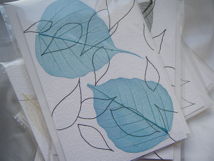 Selection of Five 'Leaf' Cards
