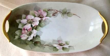 Bavarian Celery Dish or Vanity Tray 1900 Edwardian Art Nouveau Antique Porcelain