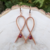 Handmade Copper Frame Earrings