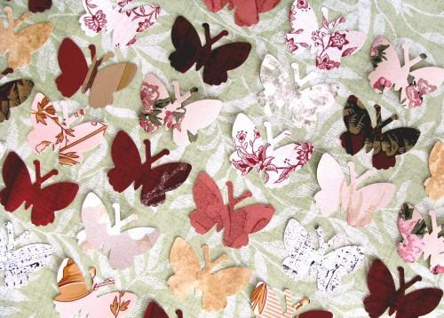 Butterfly Die Cut Vintage Wall Paper Punches Packet of 50