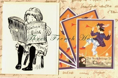 Personalized Set of 24 Book Plates For Your Little Boy Blue
