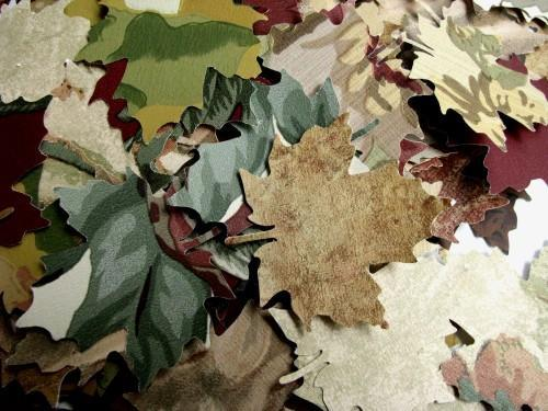 Autumn Maple Leaf Die Cut Vintage Wall Paper Punches Packet of 100