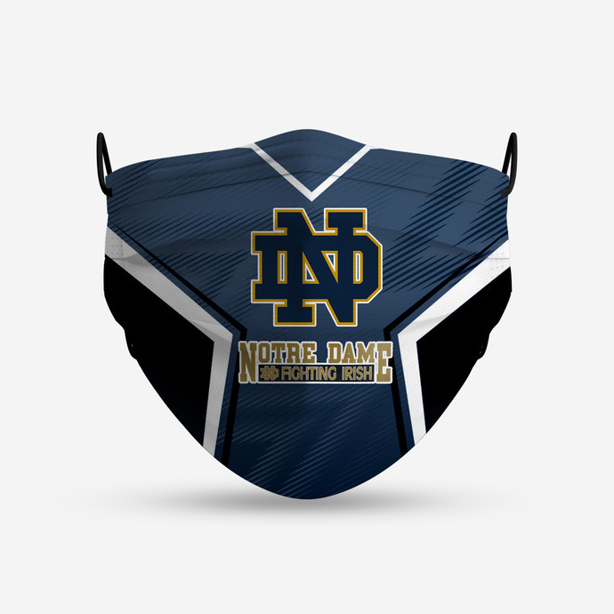 Notre Dame Fighting Irish Style 4 Face Mask, Adult Face Mask, Sport Face Mask,