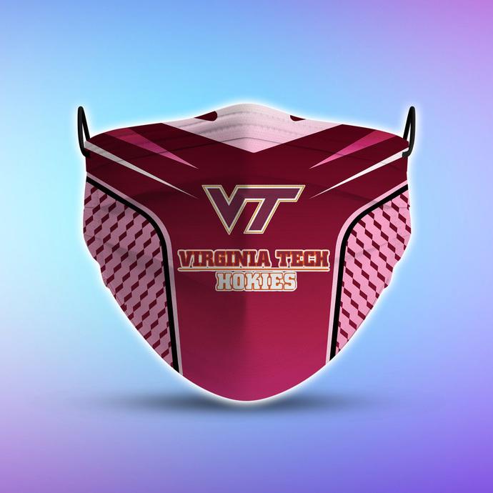 Virginia Tech Hokies Style 5 Face Mask, Adult Face Mask, Sport Face Mask,