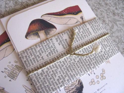 Fly Agaric Victorian Mushroom Botanical Stationery Note Flat Set