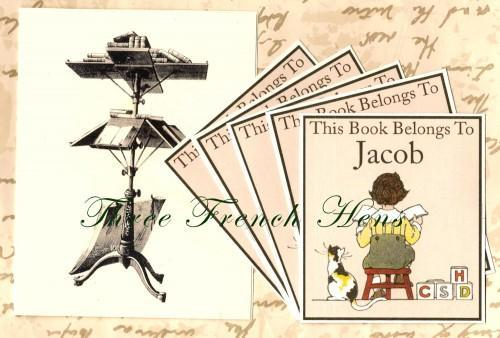Personalized Book Plates Set of 24 For Your Little Book Corner