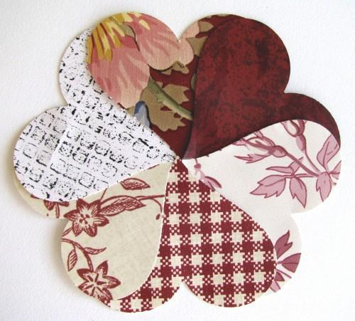 Hearts in Red Packet of 50 Vintage Wall Paper Heart Punches