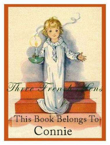 Personalized Set of 24 Book Plates For Your Bedtime Books