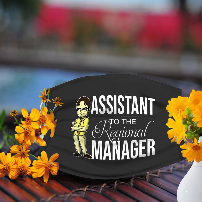 Assistant to the Regional Manager Face Mask, Reusable Face Mask, Washable Face