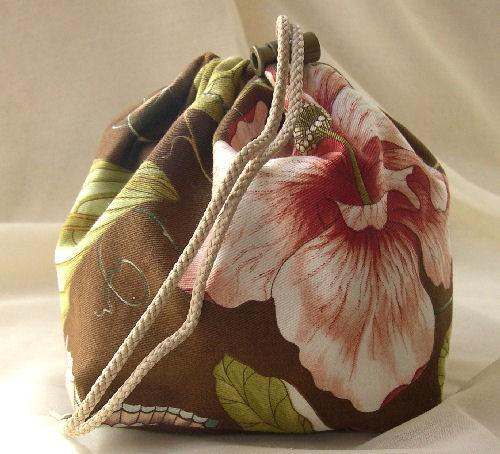 Hand Crafted Pouch Purse or Project Bag in Floral Garden