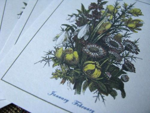Journal Embellishment Gift Tag Victorian Winter Botanical Set