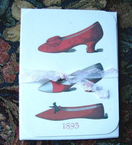 Paris Shoe Fashions Stationery Note Flat Set