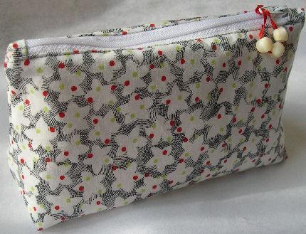Zipper Pouch Lined Cosmetic Bag in Star Bright Star Light Cotton
