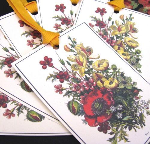 Journal Embellishment Gift Tag Victorian May Botanical Set
