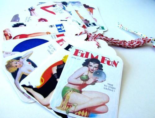 Roaring Twenties Pin Up Gifting and Journaling Tag Set