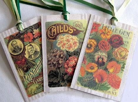 Garden Seed Pack Gifting Tags Journal Embellishments, Set of 3