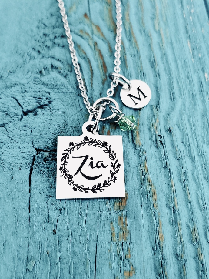 Zia, Italian Aunt, Italian Jewelry, Silver Necklace, Gifts for, Zia Gift, Zia