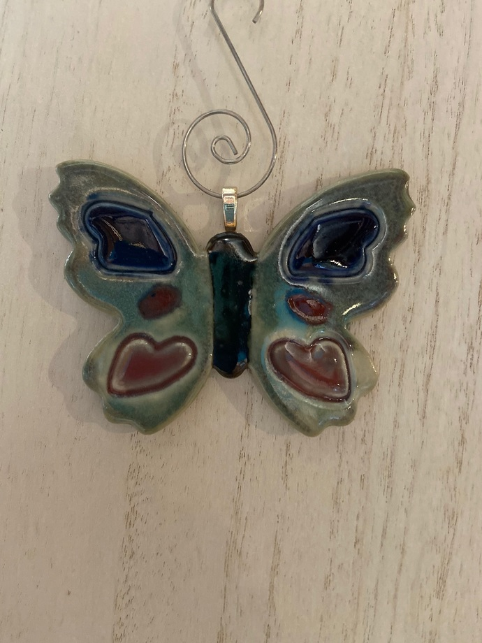 """Butterfly ornament includes tree hanger - 3 1/4"""" x 2 3/4"""""""