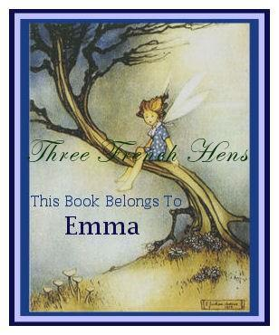 Personalized Set of 24 Blue Fairy Book Plates For Your Favorite Books