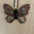 "Butterfly ornament includes tree hanger - 3 1/4"" x 2 3/4"""