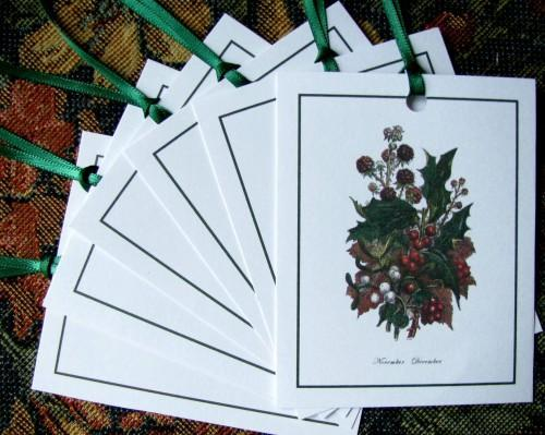 Journal Embellishment Gift Tag Victorian Holiday Botanical Set