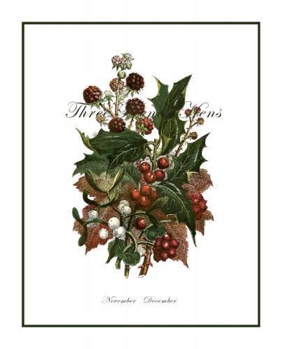 Journal Embellishment Gift Tag Victorian Holiday Botanical Set