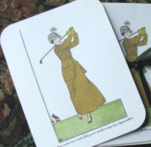 La Belle Epoque Paris Golf Fashions Stationery Note Flat Set