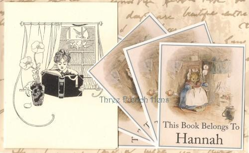 Personalized Set of 24 Book Plates For Your Little Mouse Books