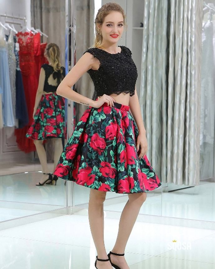 Sexy O-Neck A-Line Homecoming Dresses,Short Prom Dresses,Cheap Homecoming