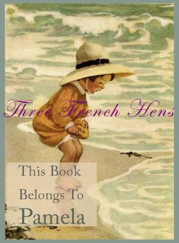 Personalized Set of 24 Bookplates For Your Little Beachcombers Library