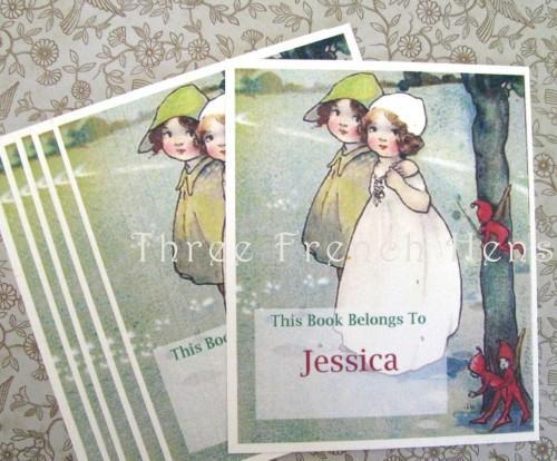Personalized Set of 24 Bookplates For Your Favorite Books