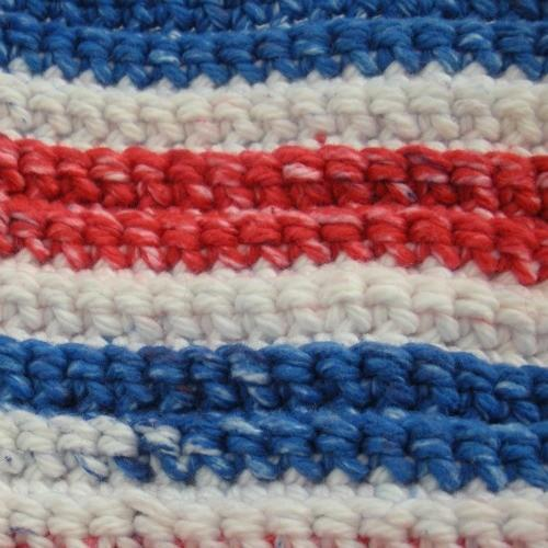 Crocheted-Duster Tool Cover American Stripes Handmade
