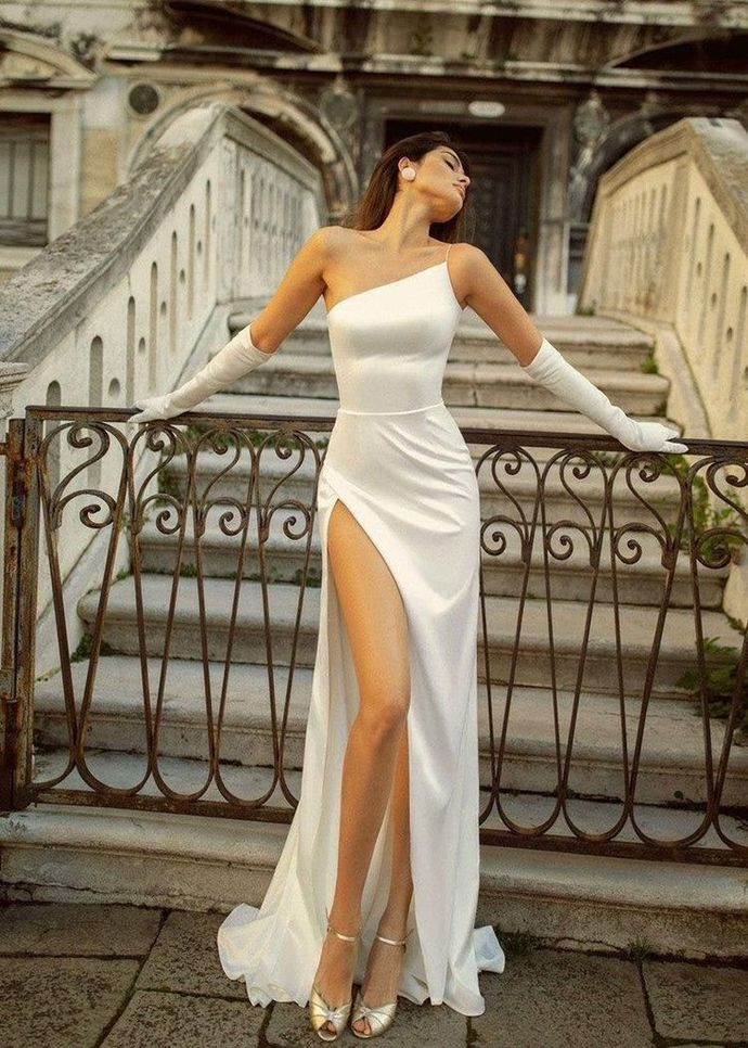 Sexy Sleeveless High Slit Evening Party Dress, Long Prom Dresses T1911